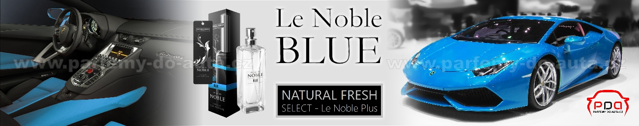 Parfém do auta Le Noble Blue - modrý Natural Fresh - luxusní vůně do auta