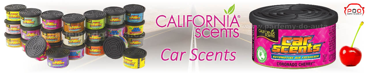 California Car Scents vůně do auta v plechovce z ameriky