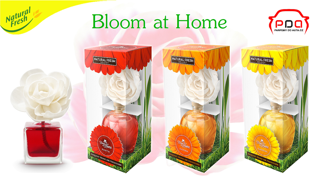 Nový difuzér květina Bloom at Home Natural Fresh