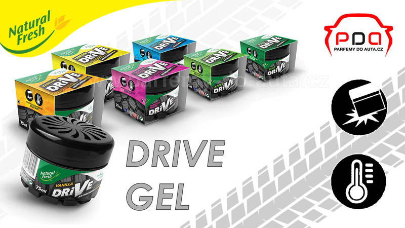 Drive Gel Natural Fresh gelové vůně do auta 16-9 800